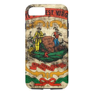 Vintage Grunge State Flag of West Virginia iPhone 7 Case