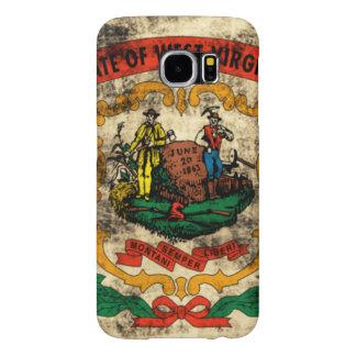 Vintage Grunge State Flag of West Virginia Samsung Galaxy S6 Cases