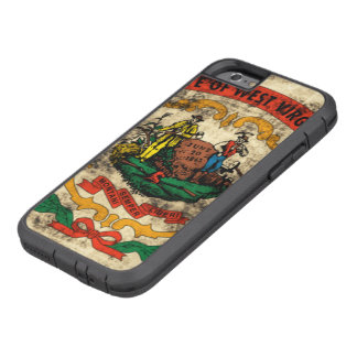 Vintage Grunge State Flag of West Virginia Tough Xtreme iPhone 6 Case
