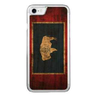 Vintage Grunge State Flag of Wyoming Carved iPhone 8/7 Case
