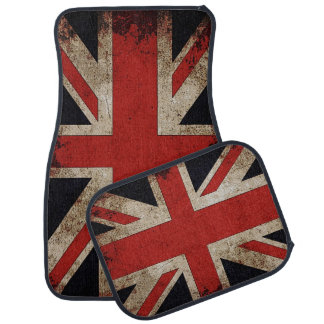 Vintage Grunge UK Flag Car Mat