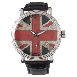 Vintage Grunge UK Flag Watch