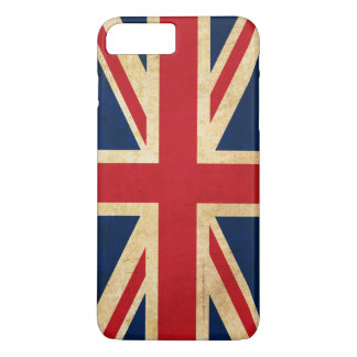 Vintage Grunge United Kingdom Flag Union Jack iPhone 8 Plus/7 Plus Case