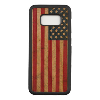 Vintage Grunge USA FLAG Carved Samsung Galaxy S8 Case