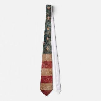 Vintage Grunge USA Stars & Stripes Flag Tie
