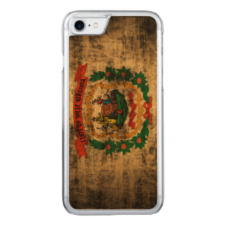 Vintage Grunge West Virginia Flag Carved iPhone 7 Case