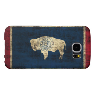 Vintage Grunge Wyoming State Flag Samsung Galaxy S6 Cases