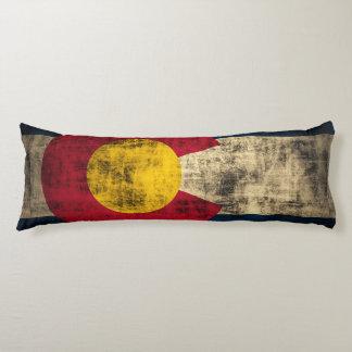 Vintage Grungge Colorado Flag Body Pillow