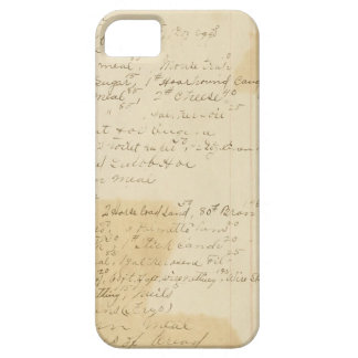 Vintage Grungy Stained Ledger Journal Background iPhone 5/5S Cover