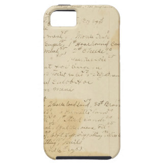 Vintage Grungy Stained Ledger Journal Background iPhone 5 Cover