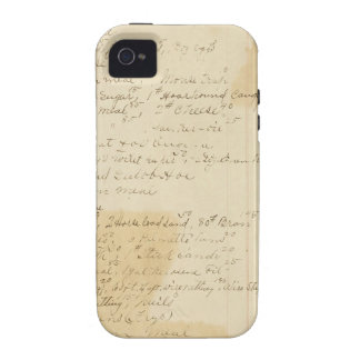 Vintage Grungy Stained Ledger Journal Background iPhone 4/4S Case