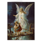 Vintage Guardian Angel and Children Card