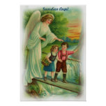 Vintage Guardian Angel Poster