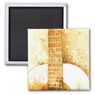 Vintage Guitar Gold Magnet