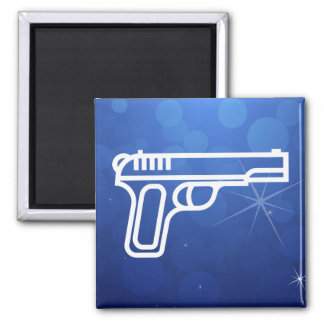 Vintage Guns Pictograph Square Magnet