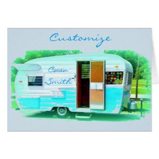 Vintage gypsy trailer Thunder_Cove On caravan Card