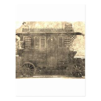 Vintage Gypsy Wagon Postcard