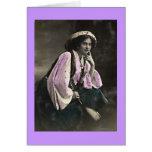 Vintage Gypsy Woman Greeting Card