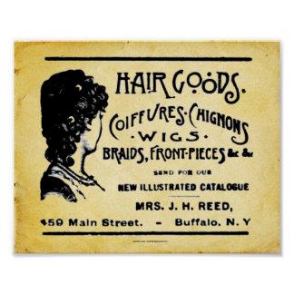 Vintage Hair Care Products Print
