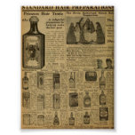 Vintage Hair style products Poster