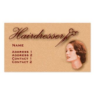 Vintage Hairdressers Profile Business Card #29