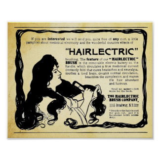Vintage Hairlectric Hair Brush Print