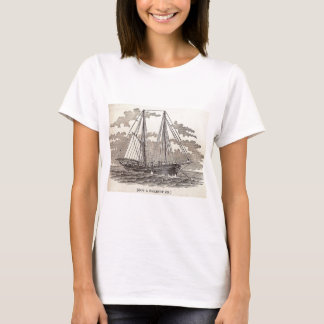 Vintage Halibut Schooner T-Shirt