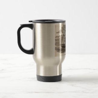 Vintage Halibut Schooner Travel Mug