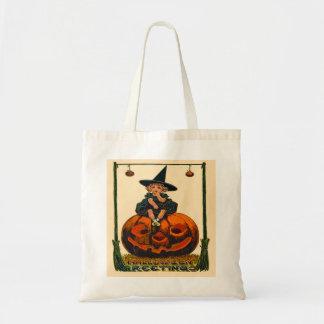 Vintage Halloween Art Budget Tote Budget Tote Bag