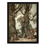 Vintage Halloween Arthur Rackham The Fairy Ball Postcard