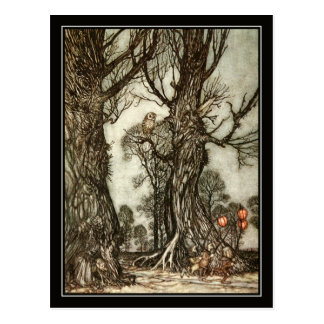 Vintage Halloween Arthur Rackham The Fairy Ball Postcard