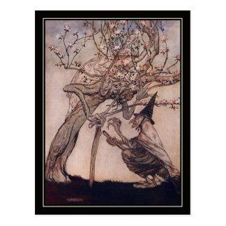Vintage Halloween Arthur Rackham Witch Postcard