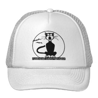 Vintage Halloween Black Cat Cap