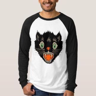 Vintage Halloween Black Cat Shirt