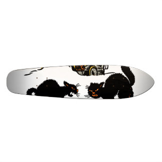 Vintage Halloween Black Cats Trick or Treat Custom Skate Board