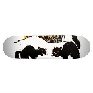Vintage Halloween Black Cats Trick or Treat Skate Deck