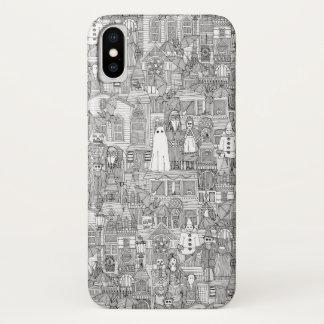 vintage halloween black white iPhone x case