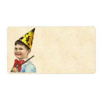 Vintage Halloween Boy Shipping Label