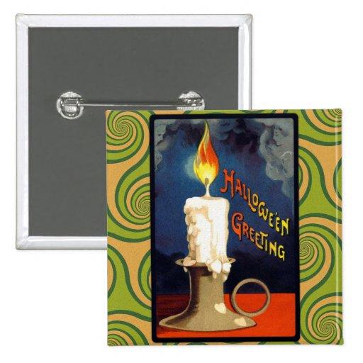 Vintage Halloween Candle Greeting Pins
