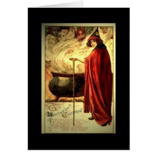 "Vintage Halloween card ""Cauldron"""
