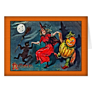 VINTAGE HALLOWEEN CARD, Raphael Tuck c.1900 Card