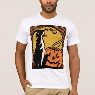 Vintage Halloween Cat and Jack O'Lantern Shirt