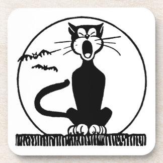 Vintage Halloween Cat Coasters