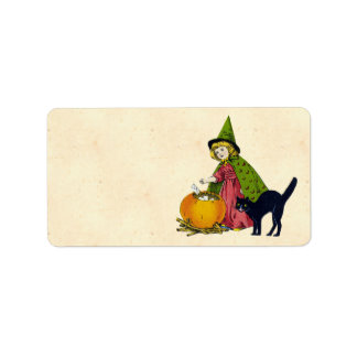 Vintage Halloween Child Address Label