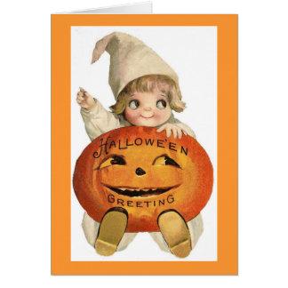 Vintage Halloween Child Card
