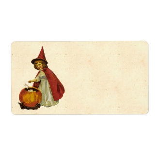 Vintage Halloween Child Shipping Label