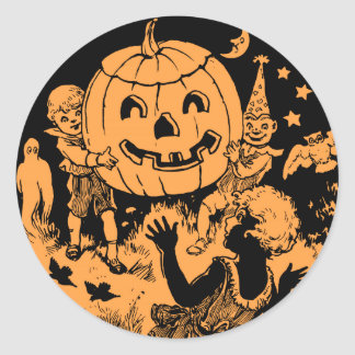 Vintage Halloween Children's Party Classic Round Sticker