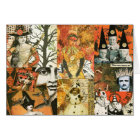 Vintage Halloween Collage Card
