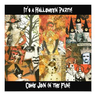 Vintage Halloween Collage Announcement