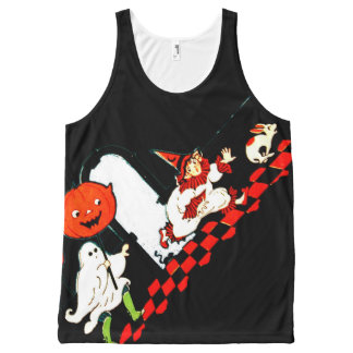 Vintage Halloween Costume Party All Over Print Top All-Over Print Tank Top